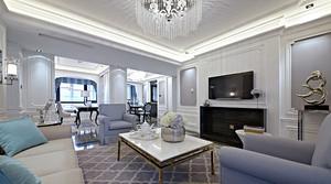 134平米简欧风格白色经典两室两厅室内装修效果图