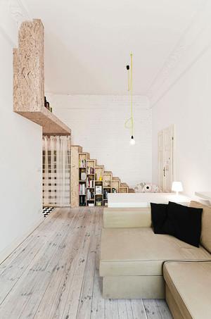 56平米简约风格loft小公寓装修效果图案例