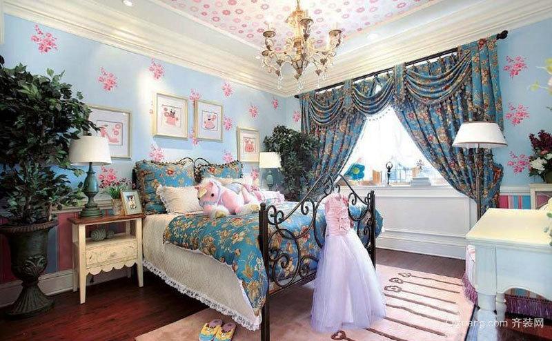 欧式风格精美女孩儿童房装修效果图赏析