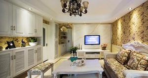 139平米欧式风格大气淡雅三室两厅室内装修效果图