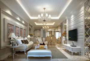 欧式风格大户型精致奢华客厅装修效果图赏析