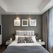 现代风格精致灰色系卧室装修效果图