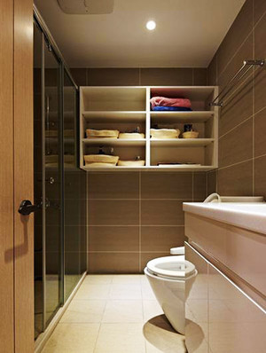 现代风格大户型卫生间淋浴房装修效果图