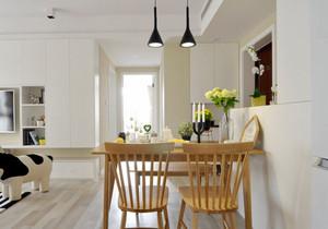 宜家风格三居室浅色餐厅装修效果图赏析