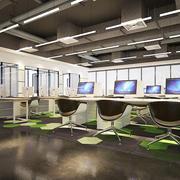 现代简约风格小型办公室装修实景图