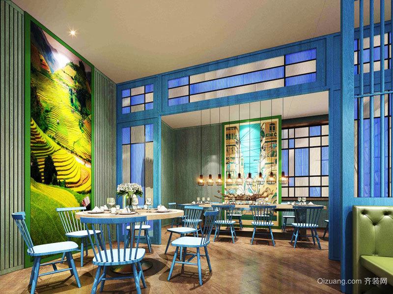 现代简约风格时尚餐厅装修效果图