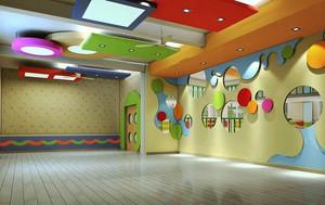 现代简约风格幼儿园教室吊顶设计装修效果图
