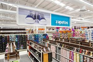100平米简约风格大型鞋店设计装修效果图