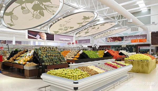 70平米现代风格水果店设计装修效果图