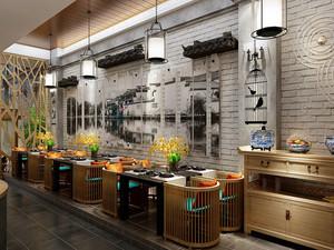 后现代风格精致中餐厅装修效果图