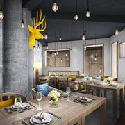 宜家风格时尚创意餐厅装修效果图赏析