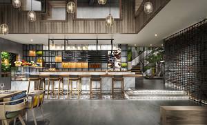 90平米后现代风格文艺咖啡厅设计装修效果图