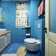 地中海风格蓝色卫生间马赛克瓷砖装修效果图