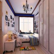 地中海风格精致卧室整体衣柜设计装修效果图