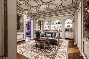 法式风格奢华宫廷风别墅室内装修效果图案例