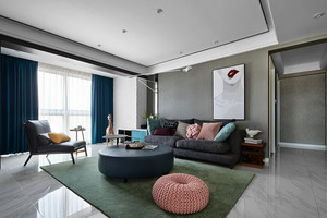 120平米后现代风格时尚创意室内装修实景图案例