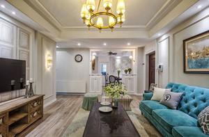 简欧风格时尚浪漫三室两厅室内装修效果图案例