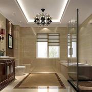 美式风格棕色精致大户型卫生间装修效果图