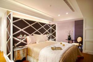 欧式风格精致卧室背景墙装修效果图鉴赏
