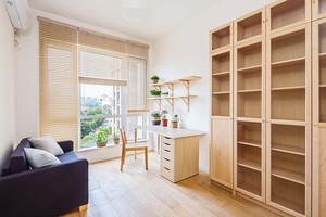 77平米日式小清新风格两室两厅室内装修效果图案例