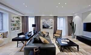 100平米现代风格黑色系室内装修效果图案例