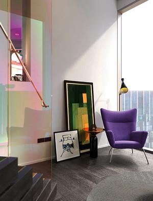 现代风格缤纷彩色时尚复式楼室内装修效果图案例