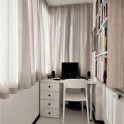 现代简约风格阳台小书房设计装修效果图