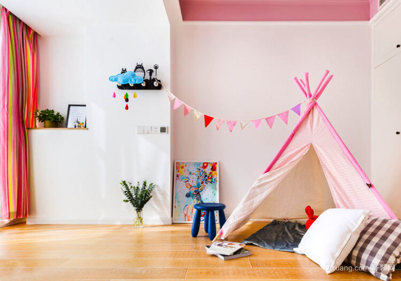 宜家风格甜美可爱儿童房装修效果图