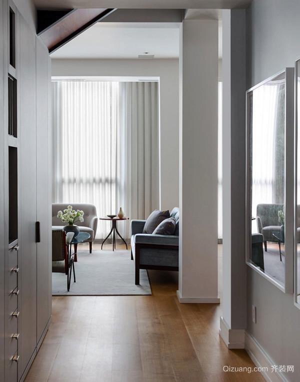 146平米宜家风格浅色复式楼装修效果图案例