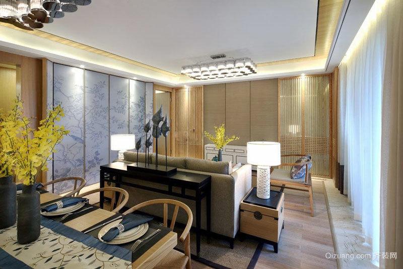 中式风格淡雅宁静客厅装修效果图鉴赏