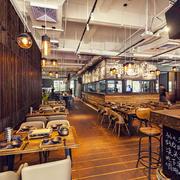 100平米复古风格精致餐厅装修效果图