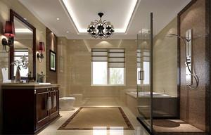 美式风格大户型精致卫生间装修效果图欣赏