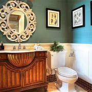 美式风格经典卫生间浴室柜装修效果图赏析