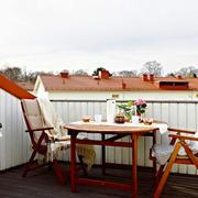 美式风格休闲露天阳台装修效果图赏析