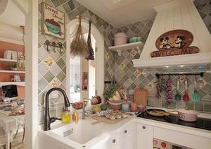 欧式田园风格小户型厨房装修效果图欣赏