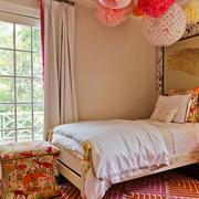 田园风格时尚甜美儿童房装修效果图赏析