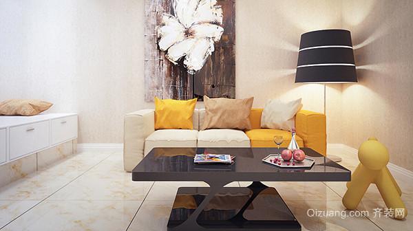 现代风格精致明亮黄色单身公寓装修效果图赏析