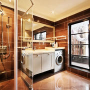 现代风格大户型精致卫生间淋浴房装修效果图赏析
