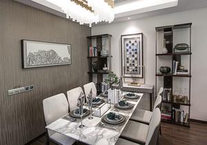 新中式风格餐厅博古架装修效果图赏析