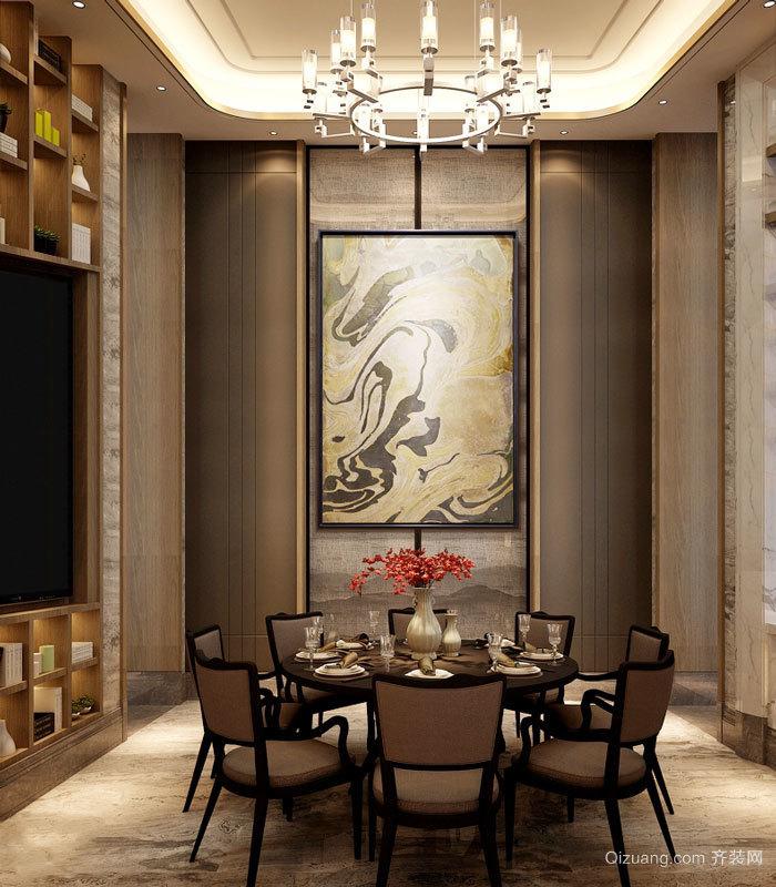 中式风格精致雅韵餐厅装修效果图