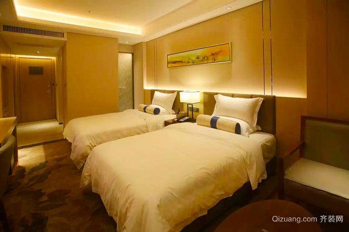 现代风格精致宾馆标准间装修效果图