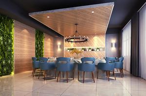 现代风格精致餐厅大包厢设计装修效果图赏析