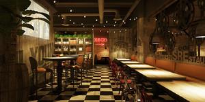 80平米复古风格精致餐厅装修效果图赏析