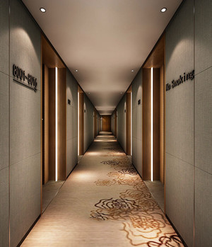 现代风格精品酒店过道装修效果图赏析