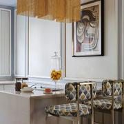 美式风格室内精致吧台设计装修效果图
