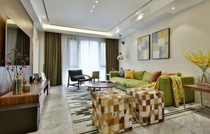 87平米混搭风格精致两室两厅室内装修效果图案例
