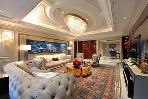 290平米美式风格奢华别墅室内装修效果图实例