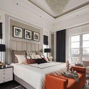 美式风格别墅室内卧室背景墙装修效果图欣赏