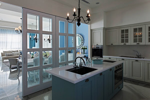 清新风格浪漫法式风格大户型室内装修效果图案例