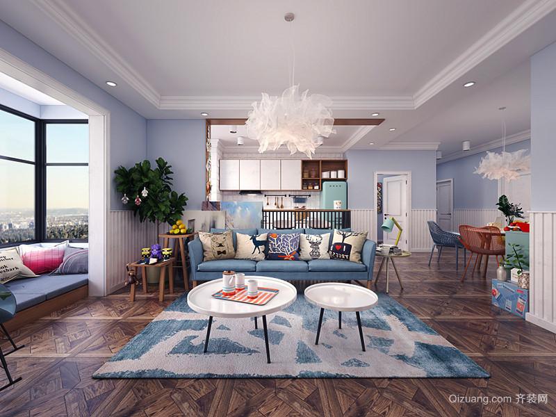 65平米简约风格时尚单身公寓装修效果图赏析